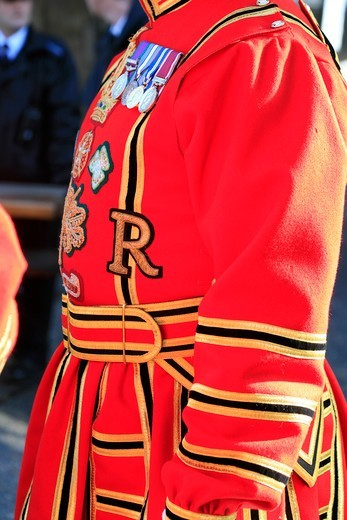 Beefeater Ceremonial Dress Tower Of London : Stock Photo