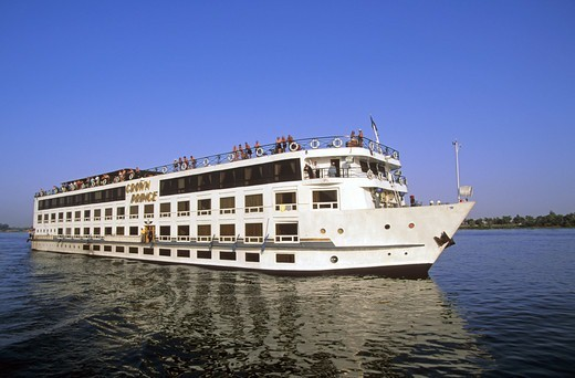Stock Photo: 1840-38246 North Africa Upper Egypt A Cruise Boat On The River Nile