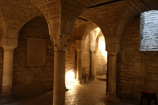 Stock Photo: 1840-38493 Crypt Of Saint Benigne Cathedral, Dijon
