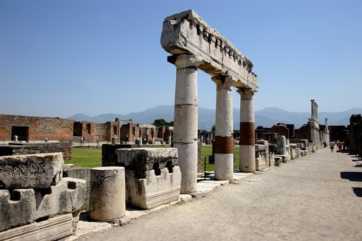 Stock Photo: 1840-38592 The Forum Of Pompeii