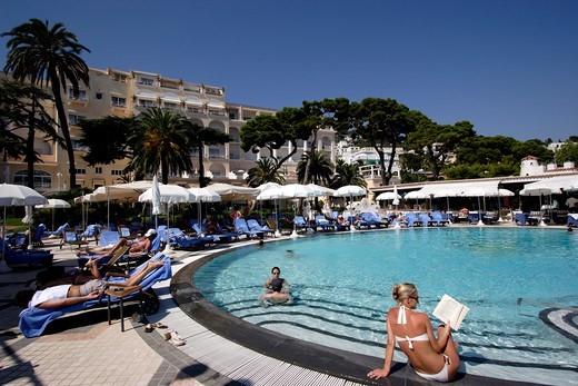 Pool Side Of Grand Hotel Quisisana : Stock Photo