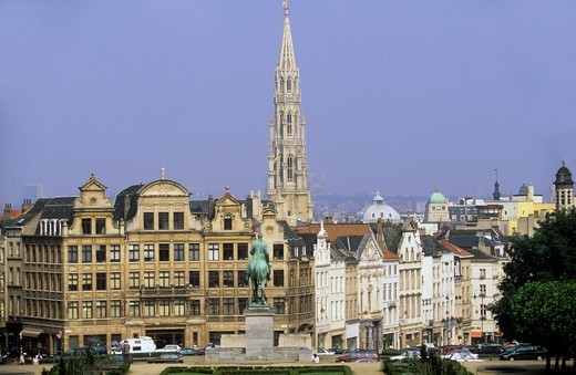 Belgium Brussels A View Of The City : Stock Photo