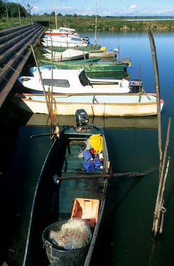 Stock Photo: 1840-38887 Fishing Boats Anchored In A Harbour