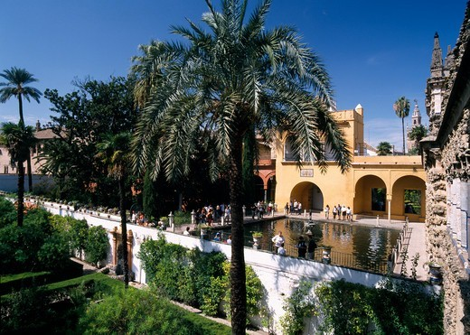 Stock Photo: 1840-39598 Seville Gardens of the Alcazar