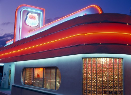 Albuquerque, Route 66 Diner : Stock Photo