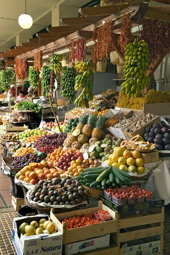 Funchal Fruit Stall : Stock Photo