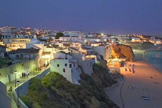 Algarve, Albufeira at Dusk : Stock Photo