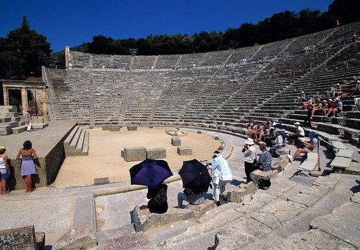 Peloponnese , Epidaurus, Amphitheatre : Stock Photo
