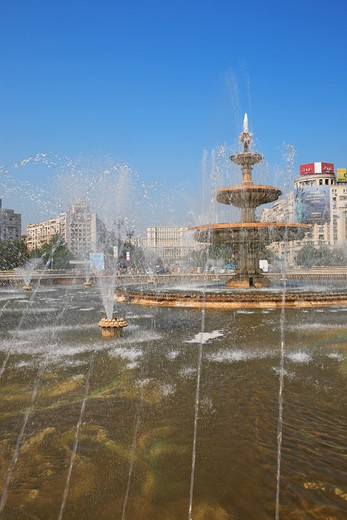 Bucharest, Piata Unirii : Stock Photo