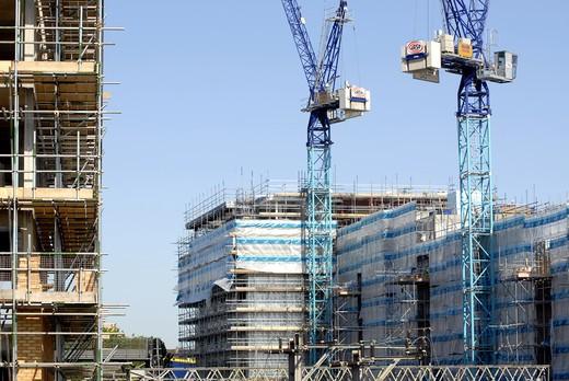 Construction And Cranes At Stratford London : Stock Photo