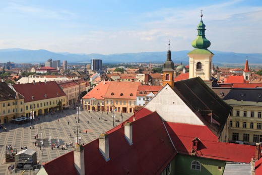 Stock Photo: 1840-6005 Romania, Transylvania, Sibiu, Piata Mare