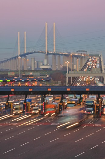 Kent, Queen Elizabeth Bridge, Dartford Crossing : Stock Photo