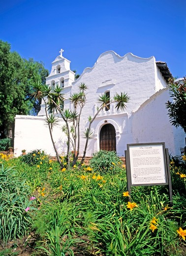 California's 1st Church, Mission, San Diego : Stock Photo