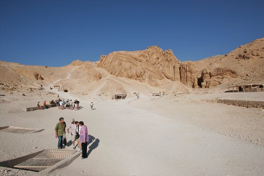 West Bank, Valley Of The Queens, Burial Chambers : Stock Photo