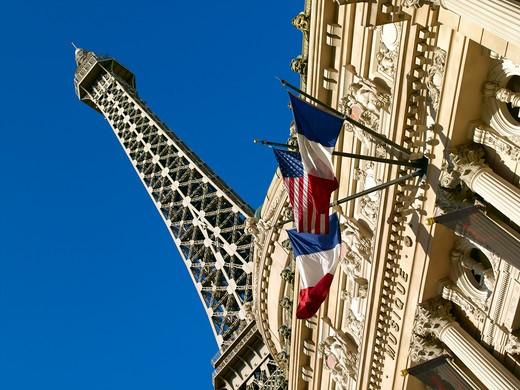 Stock Photo: 1840-7585 Las Vegas Strip Paris Las Vegas Hotel