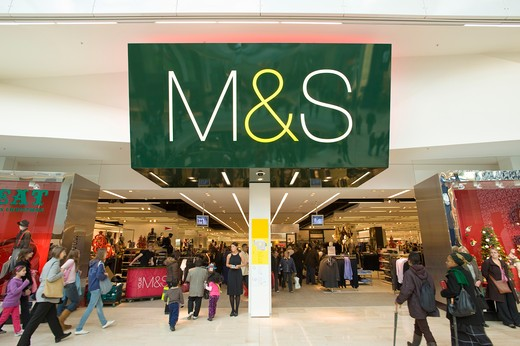 M&S department store, Westfield Shopping Centre, White City Development, London, United Kingdom : Stock Photo