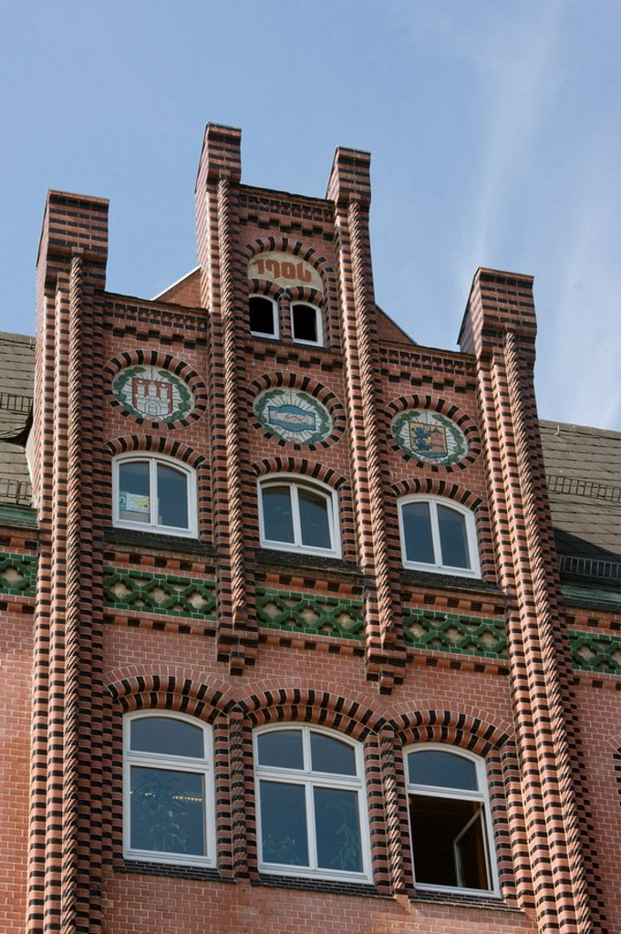 Stock Photo: 1841-101332 Old office building in Gothic Revival architecture, Flensburg, Germany