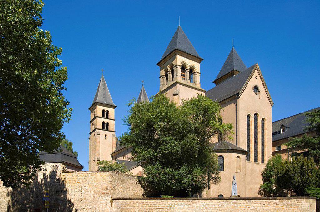 Stock Photo: 1841-101349 Benedictine monastery Echternach, Luxembourg