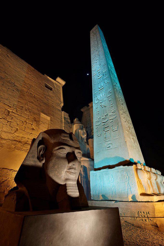 Temple of Luxor, Luxor, Egypt, Africa : Stock Photo