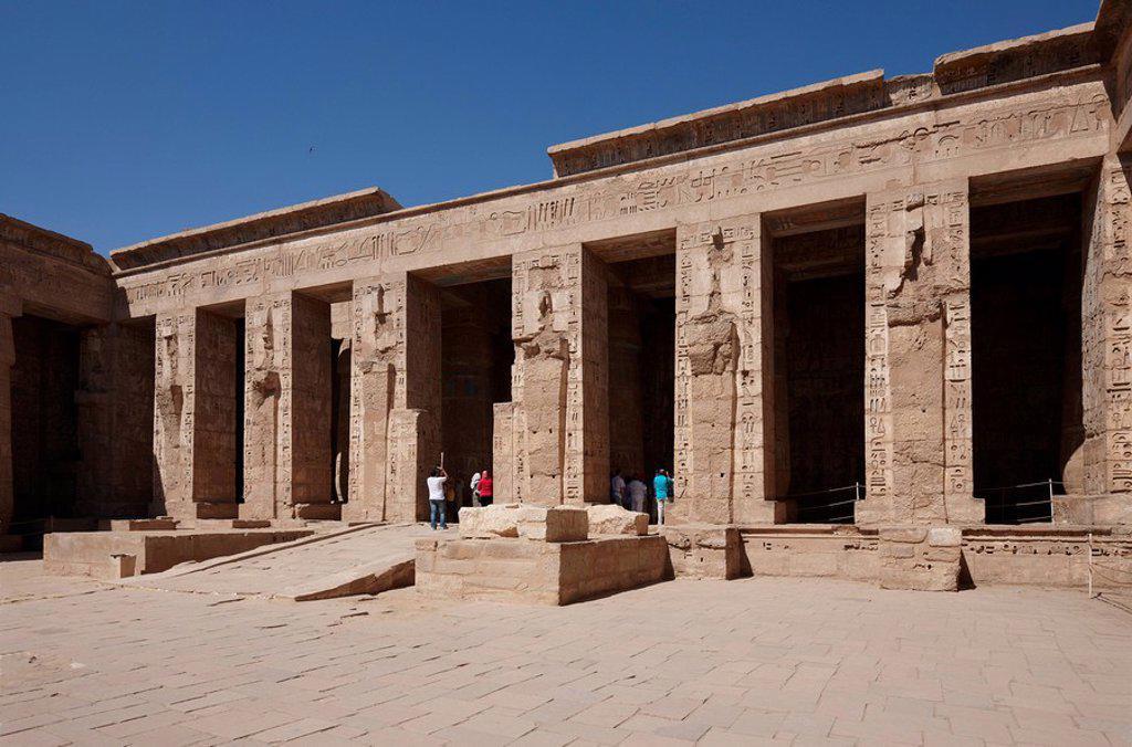 Medinet Habu, Luxor, Egypt, Africa : Stock Photo