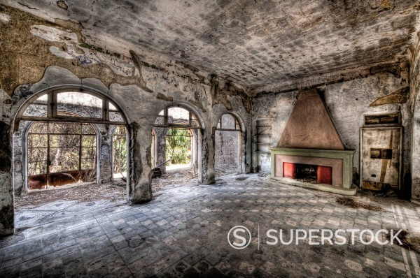 Hall in a ruine, Rhodos, Greece : Stock Photo