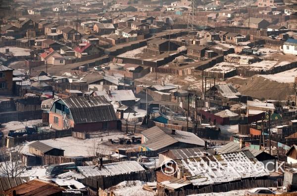 Stock Photo: 1841-117535 Suburbian ghetto of Ulan Bator, Mongolia