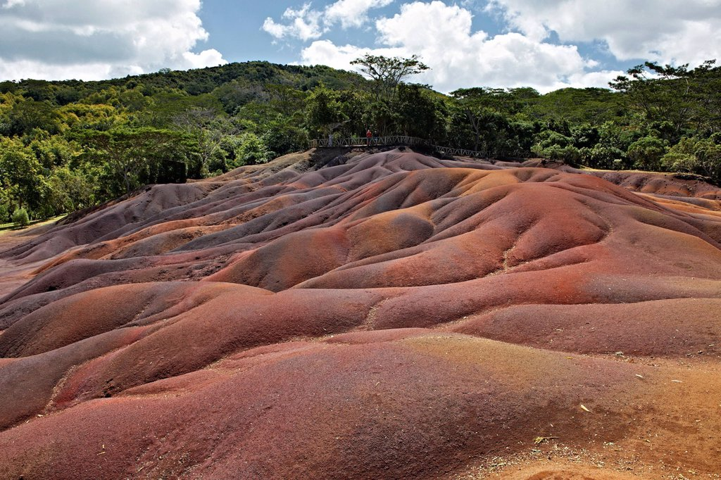 Stock Photo: 1841-122369 Seven Coloured Earths, near Chamarel, Mauritius, Indian Ocean Islands