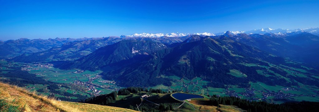 Brixental with Gro§venediger and Gro§glockner, Tyriol, Austria : Stock Photo