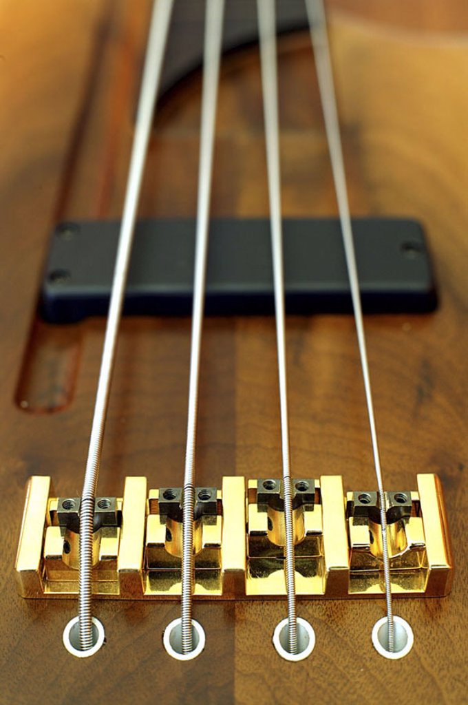 Detail of musical instrument strings : Stock Photo