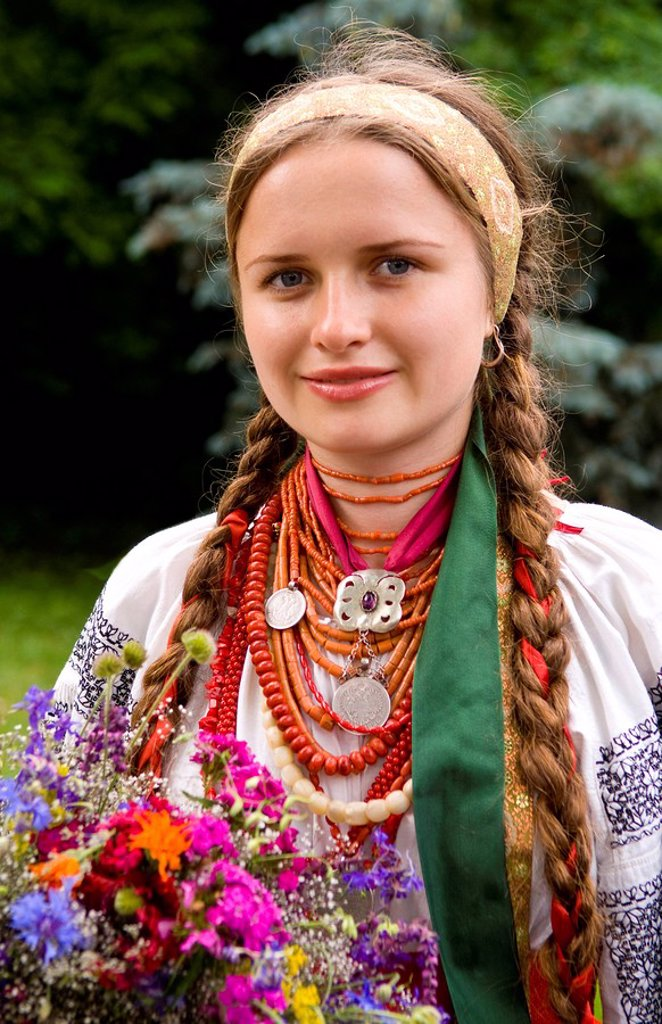 Stock Photo: 1841-14717 Ukrainian woman, portrait