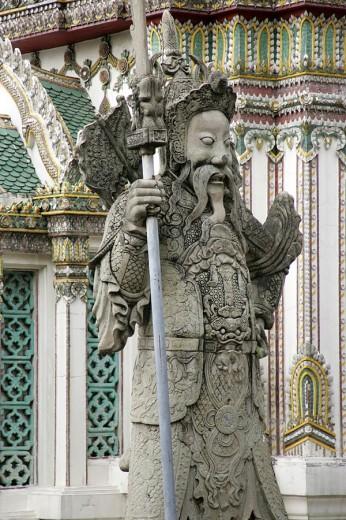 Statue in temple, Wat Pho, Bangkok, Thailand : Stock Photo