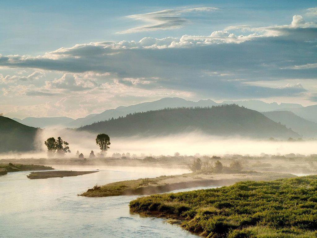 Stock Photo: 1841-17160 Buffalo Valley, Wyoming, USA