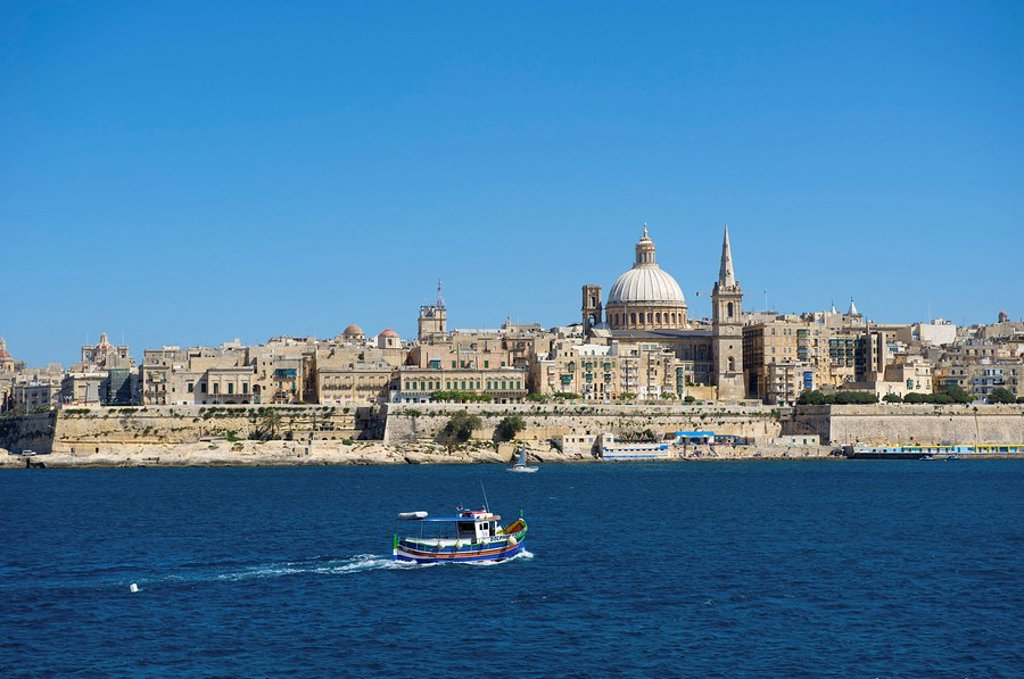 Stock Photo: 1841-17836 View from Sliema to Valletta, Malta