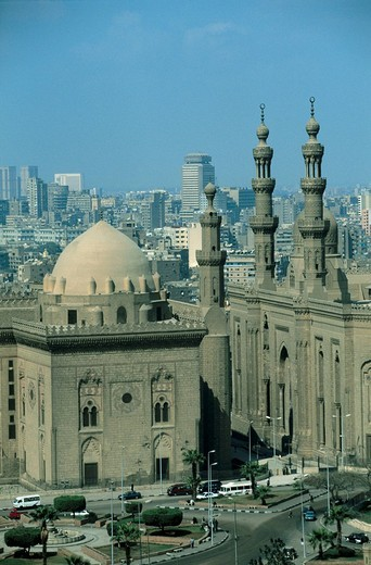 Stock Photo: 1841-18661 High angle view of mosque, Mosque Of Mohammed Ali, The Citadel, Cairo, Egypt