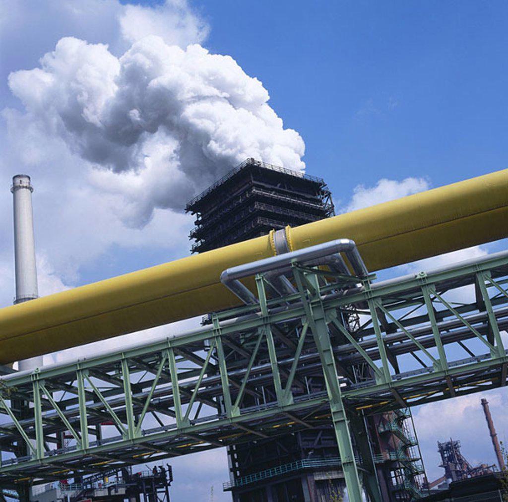 Smoke emitting from chimney : Stock Photo
