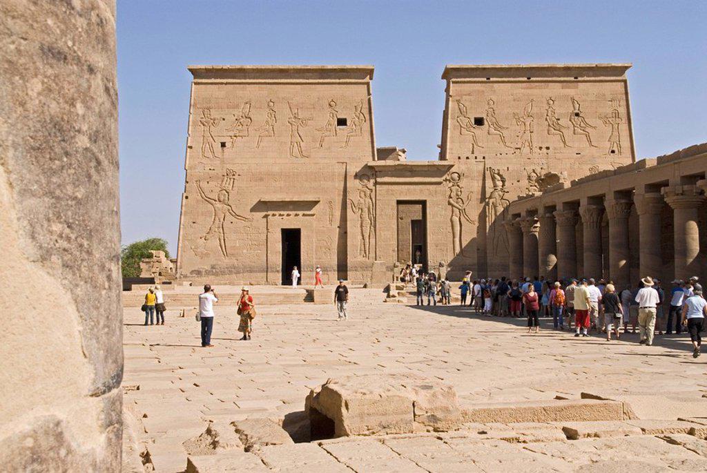 Stock Photo: 1841-20165 Temple of Philae, Egypt