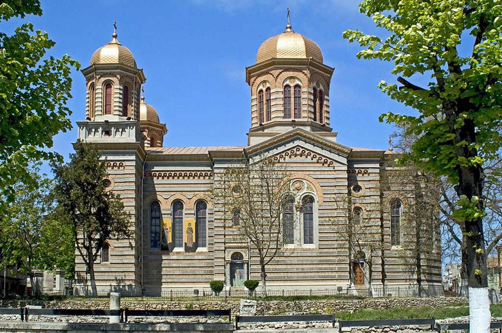 Stock Photo: 1841-21477 Facade of church, Constanta, Romania