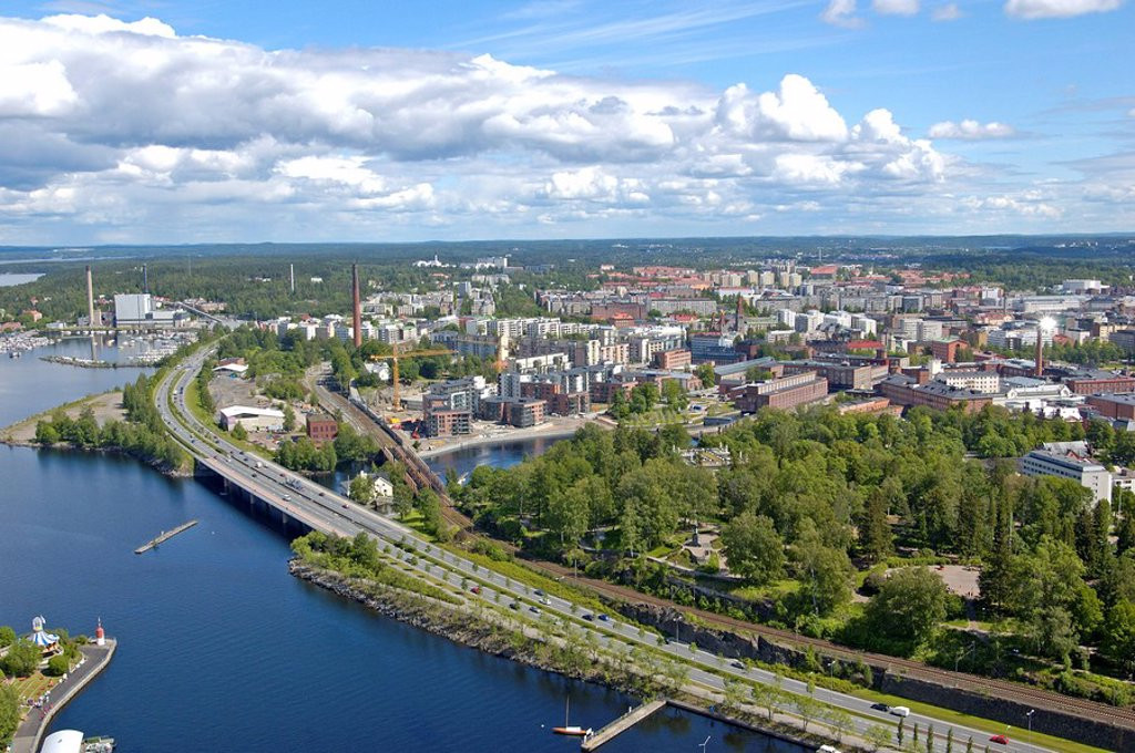 Stock Photo: 1841-21930 Aerial view of city at coast, Baltic Sea, Helsinki, Finland