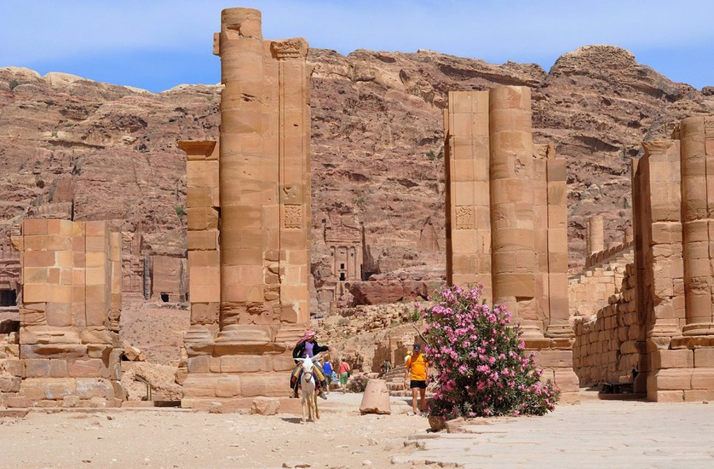 Stock Photo: 1841-22046 Columns, Petra, Jordan, Asia