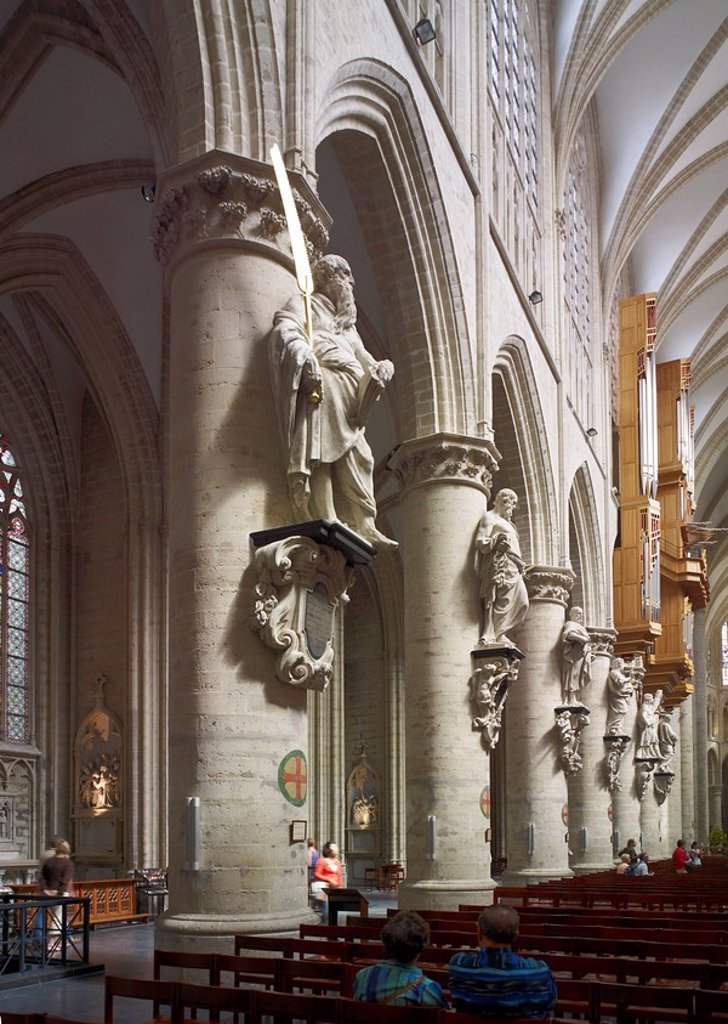 Cathedral St. Michael and St. Gudula, Brussels, Belgium, Europe : Stock Photo