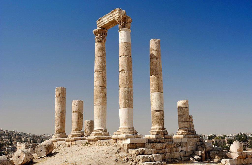 Temple of Hercules, Amman, Jordan, Asia : Stock Photo