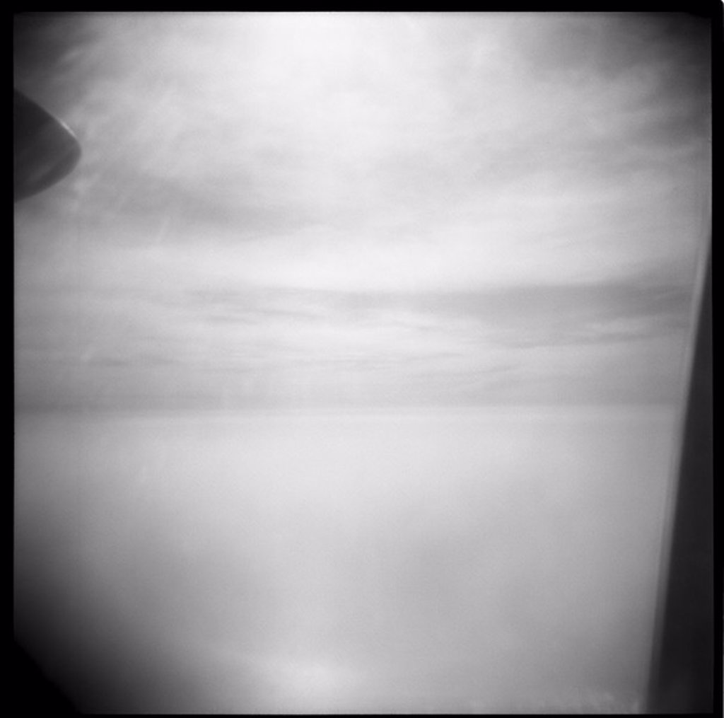 koh samui holga camera vacations Thailand sea waters Sky fly Airplane Viewpoint Width Distance far Window View high above Propeller : Stock Photo