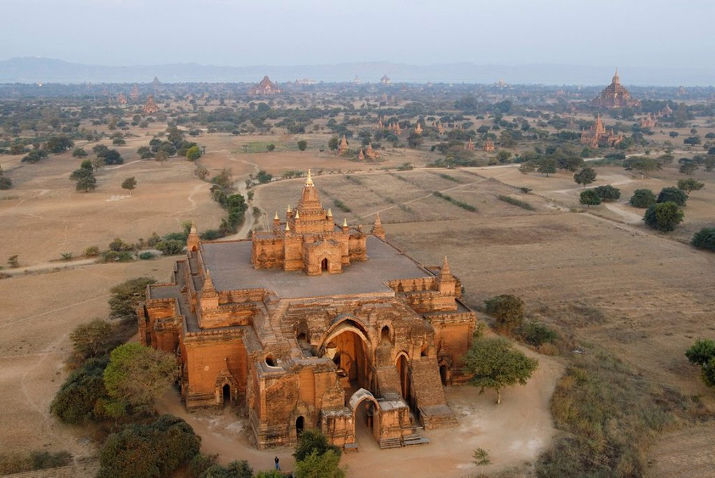 Stock Photo: 1841-26106 High angle view of temple, Pagan, Myanmar