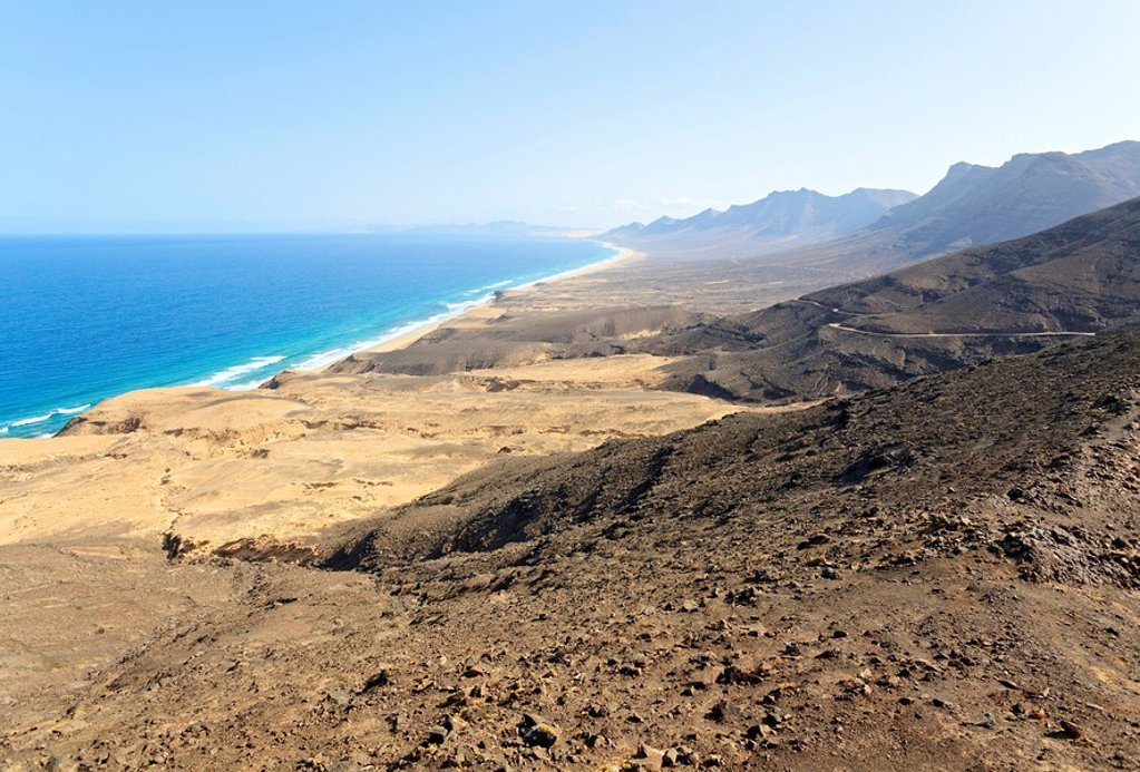 Coast line, Costa Calma, Fuerteventura, Spain : Stock Photo