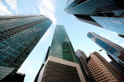 Stock Photo: 1841-28277 Financial district, Singapore, Asia