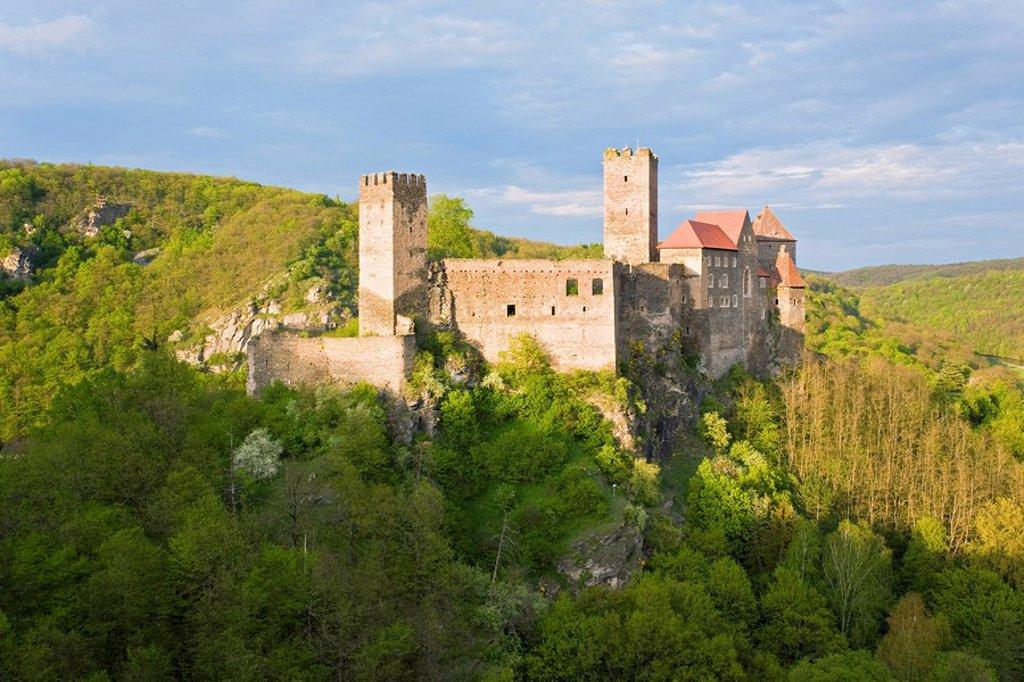 Stock Photo: 1841-30619 Castle on hill, Burg Hardegg Castle, Hardegg, Hollabrunn, Lower Austria, Austria