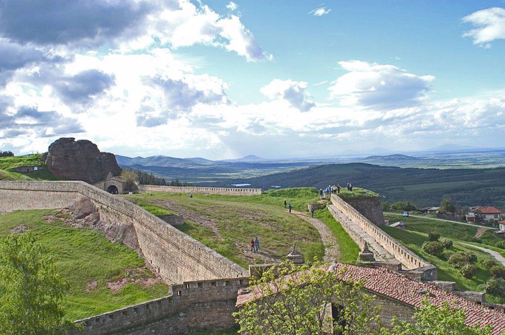 Castle on hill, Belogradchik Fortress, Belogradchik, Vidin, Romania : Stock Photo