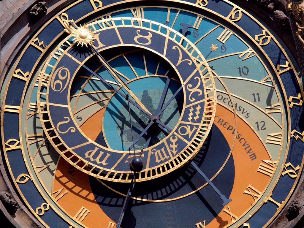 Stock Photo: 1841-33871 Astronomical clock, Prague, Czech Republic