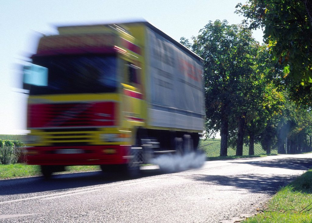 Stock Photo: 1841-35194 Truck on highway
