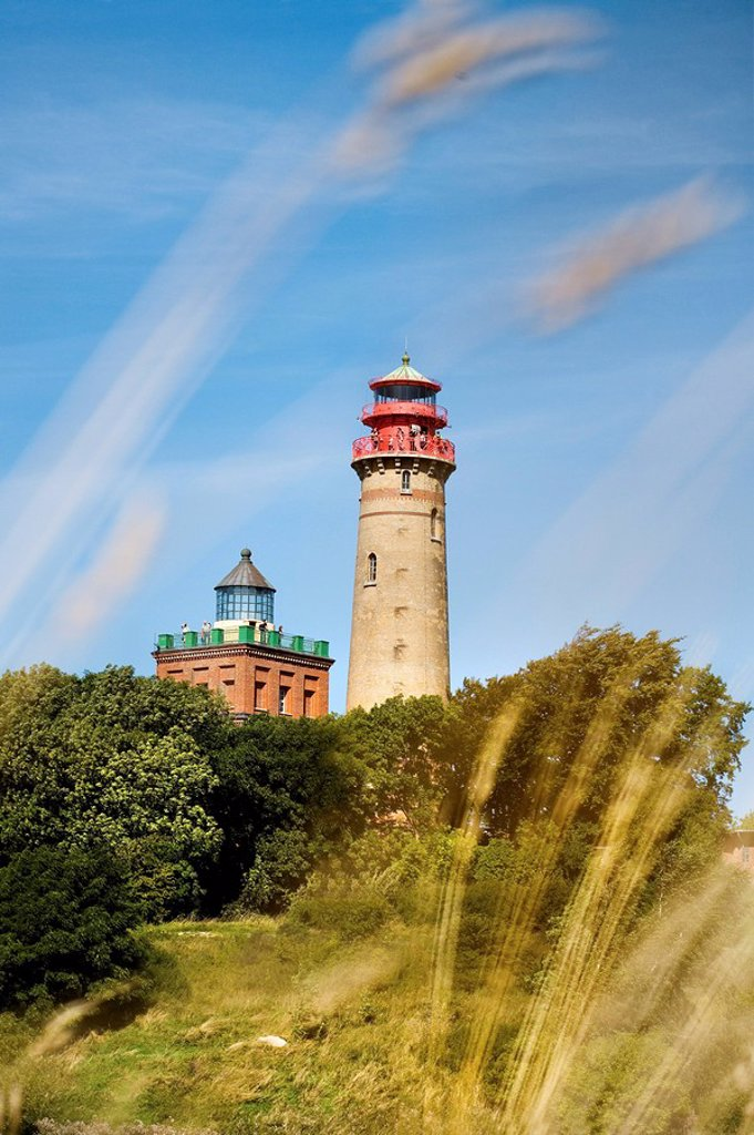 Kap Arkona lighthouses, Ruegen, Germany : Stock Photo
